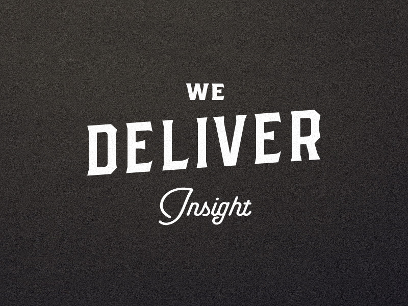 We Deliver Insight